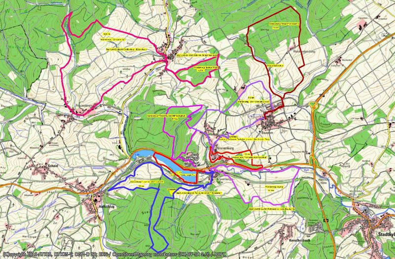 kronenburg eifel karte Eifelverein Kronenburg   Die Wanderwege der OG Kronenburg